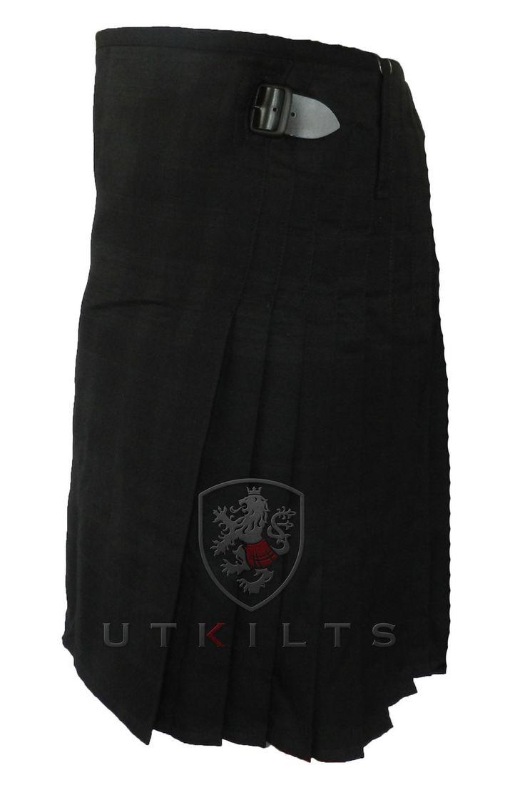 UT Kilts  - Black Isle Blackout 100% Wool Tartan Kilt - 13 oz, $90.00 (https://www.utkilts.com/black-isle-blackout-100-wool-tartan-kilt-13-oz/)