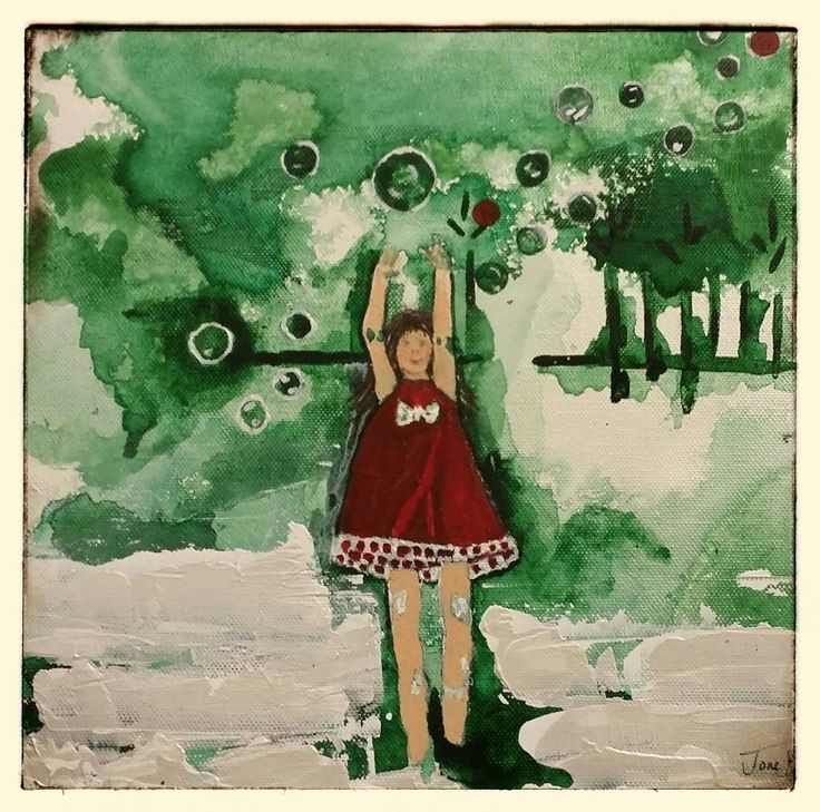 Våt akryl. By Tone Henriksen .