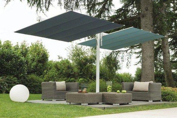 Parasols flexy twin Luxury large elegant design sunscreen patio area flexy twin