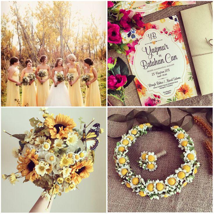 Yaz düğün teması / summer wedding theme www.masalsiatolye.com