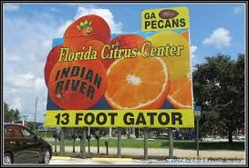 Florida roadside signs for tourists