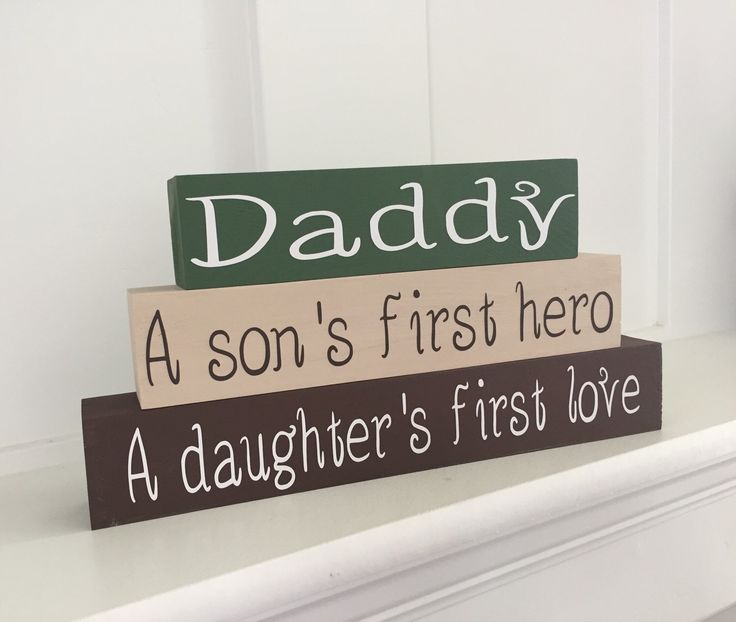 A personal favorite from my Etsy shop https://www.etsy.com/listing/291807215/fathers-day-stacker-blocks-daddy-a-sons