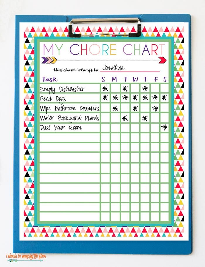 It's just a picture of Rare Chore Chart Pictures Free Printable