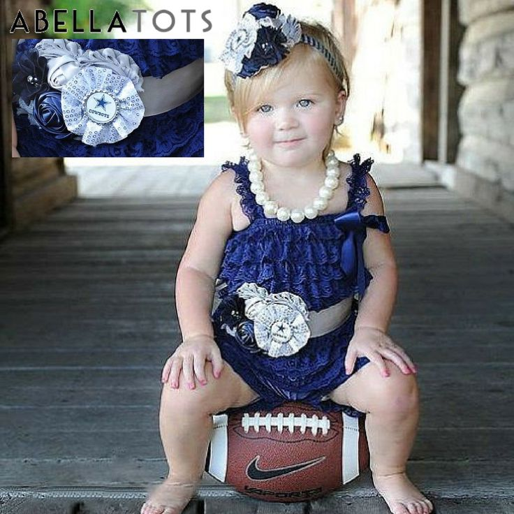 ~Dallas Football Baby Romper Outfit~ Newborn to Toddler Sizes
