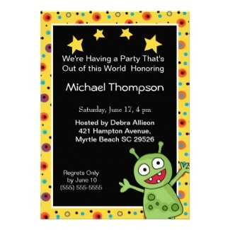 17 best images about birthday invitations on pinterest for Space themed stationery
