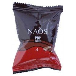 100 CAPSULE Naos .4, una miscela composta da 40% Robusta e 60% Arabica per un caffè decaffeinato.