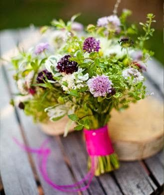 """4 of the Best Bridal Bouquet Ideas for 2014 - """"just picked"""" bouquets"""
