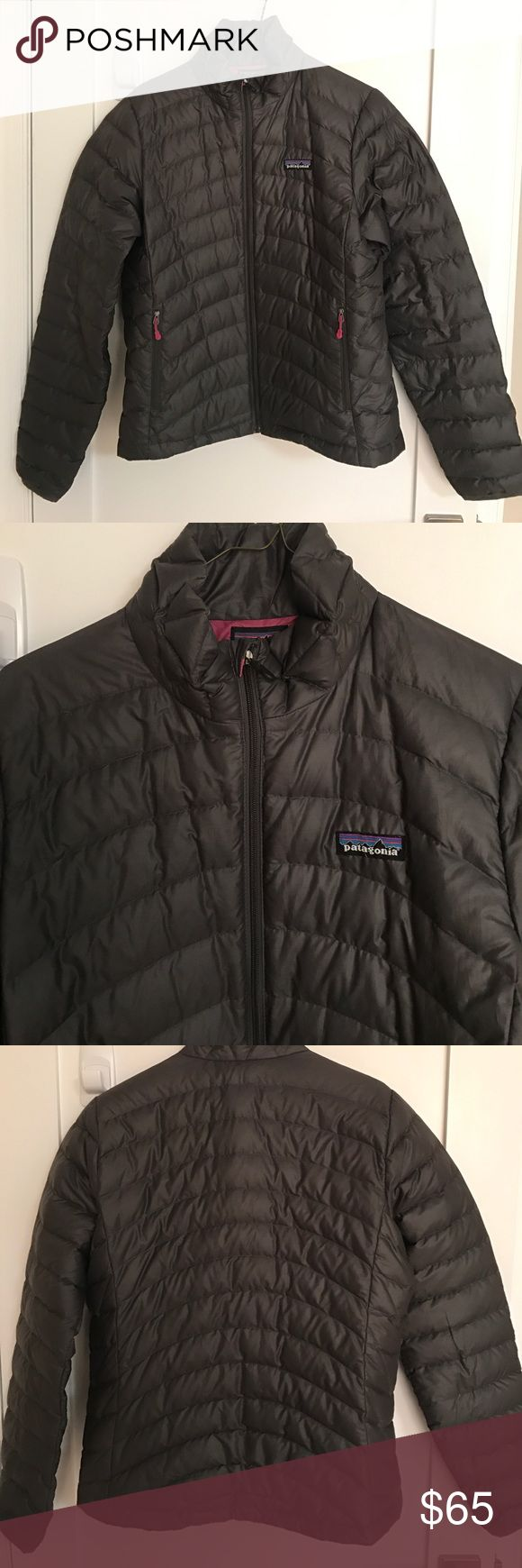 Patagonia Down Sweater Jacket, women's Medium Dark grey, Patagonia down sweater jacket. Lightweight puffer, size women's medium. Lightly used Patagonia Jackets & Coats