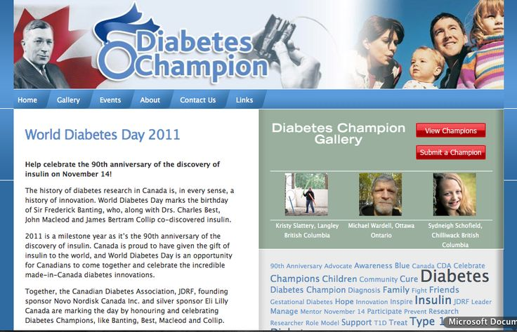 This microsite was created to promote World Diabetes Day and to enable an online community of those affected by diabetes to share stories and participate in events in their area.