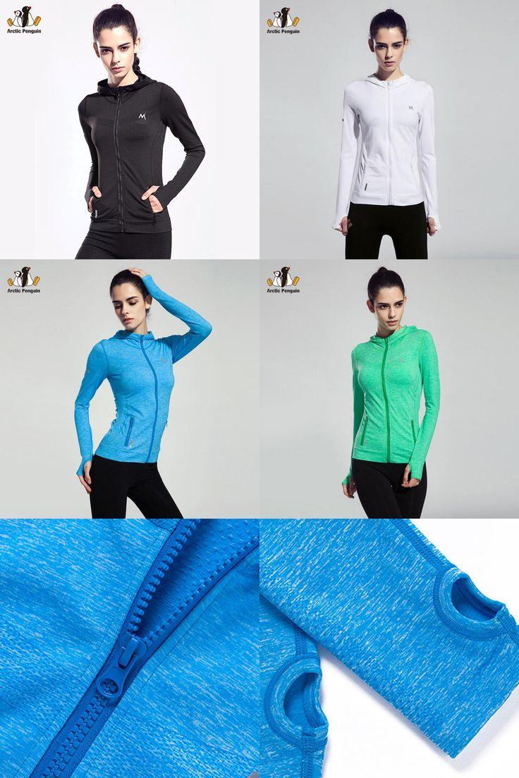 [Visit to Buy] [AP]Women Sport Jackets Coats Running Fitness Zipper Jacket with Hat Quick Dry Gym Sweatshirts Slim Hoodies Coat Women's Clothes #Advertisement