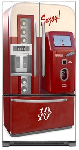 Vintage Vending Machine Refrigerator Cover