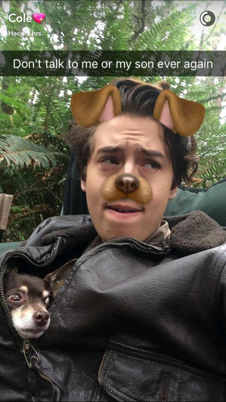 Cole Sprouse snapchat
