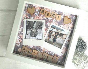 Gift For Best Friend, Best Friends Frame, Personalised Best Friend Frame, Gift For Friend, Scrabble Frame, Personalized Scrabble Art.
