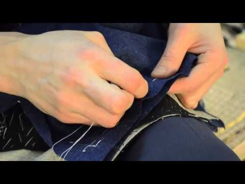 ▶ The Making of a Coat #16 Basting the Shoulder Seams - YouTube
