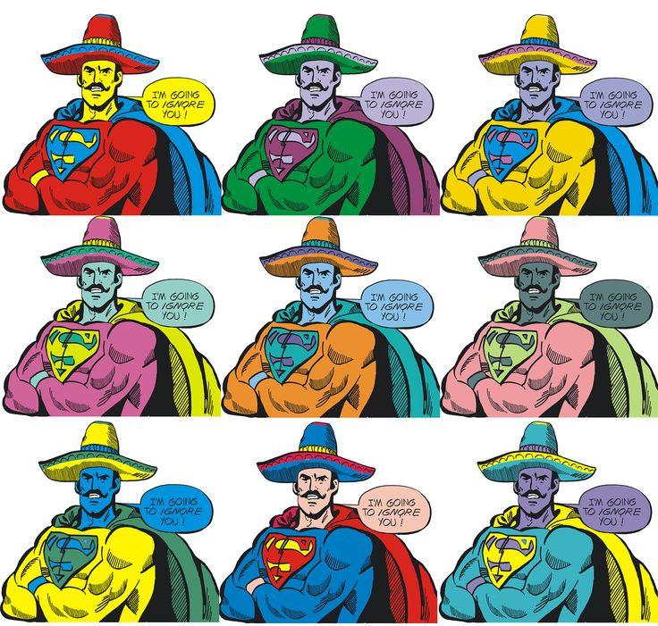 Супермен для просмотре по истории в стиле поп-арт =)