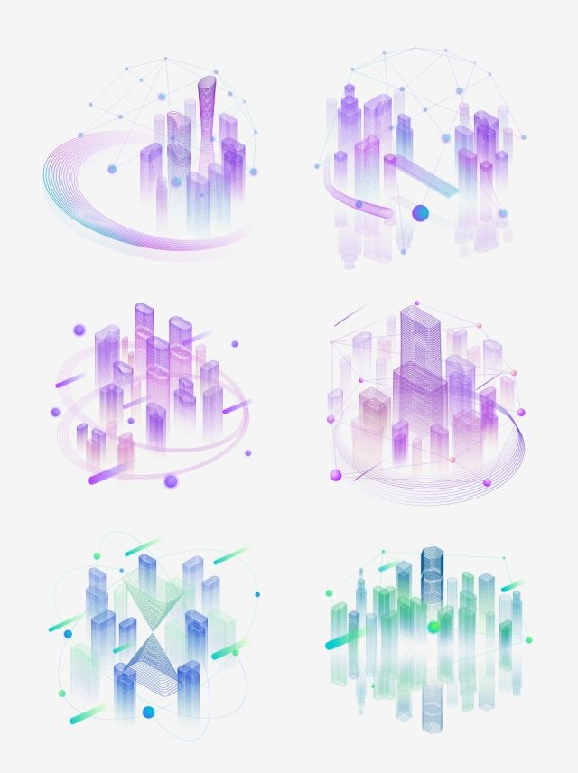 2 5d Stereo Technology Sense Linear Line Smart City Can Be Commercial Technology Wisdom Information Png And Vector With Transparent Background For Free Downl Tapety Grafika