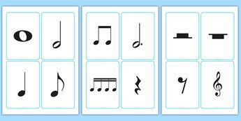 Blank Musical Note Cards - music, writing, notes, notation, editable, display