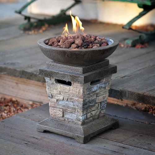 Garden Decor Newcastle: Newcastle LP Gas Fire Pit Column