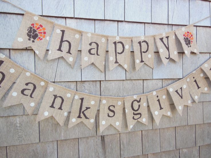 Thanksgiving Decor, Thanksgiving Banner, Happy Thanksgiving Banner, Thanksgiving Burlap Garland, Thankful Bunting, Turkey Decor, Give Thanks by IchabodsImagination on Etsy https://www.etsy.com/listing/253696652/thanksgiving-decor-thanksgiving-banner