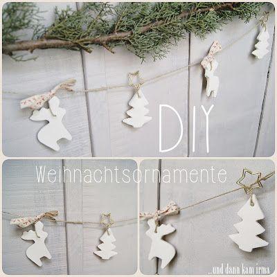 schneeweiße Weihnachtsornamente DIY