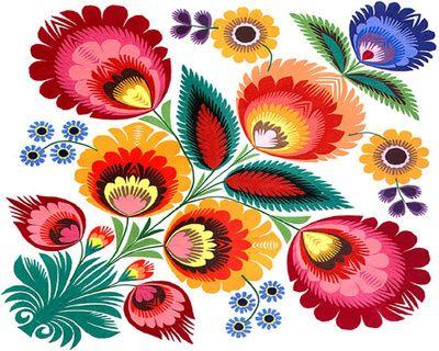 Folk Art Patterns Printable | Slavic Folk Pattern Art Print