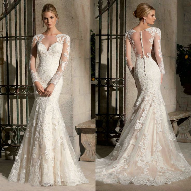 Cheap dress 4xl, Buy Quality dress modelling directly from China dresses chiffon Suppliers:                      2015 Designers White Lace And See Through Mermaid Wedding Dresses With Removable Tra