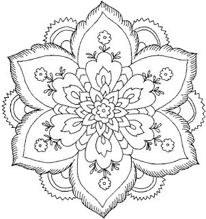 Flower Coloring Page: Hard Flower Coloring Pages