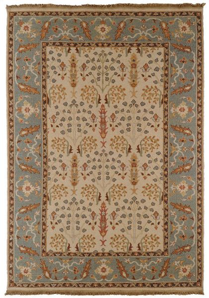 Sonoma Slate Blue Cream Hand Knotted Wool Rug available @ CoachBarn.com is exquisite! #coachbarn #transitionalrugs