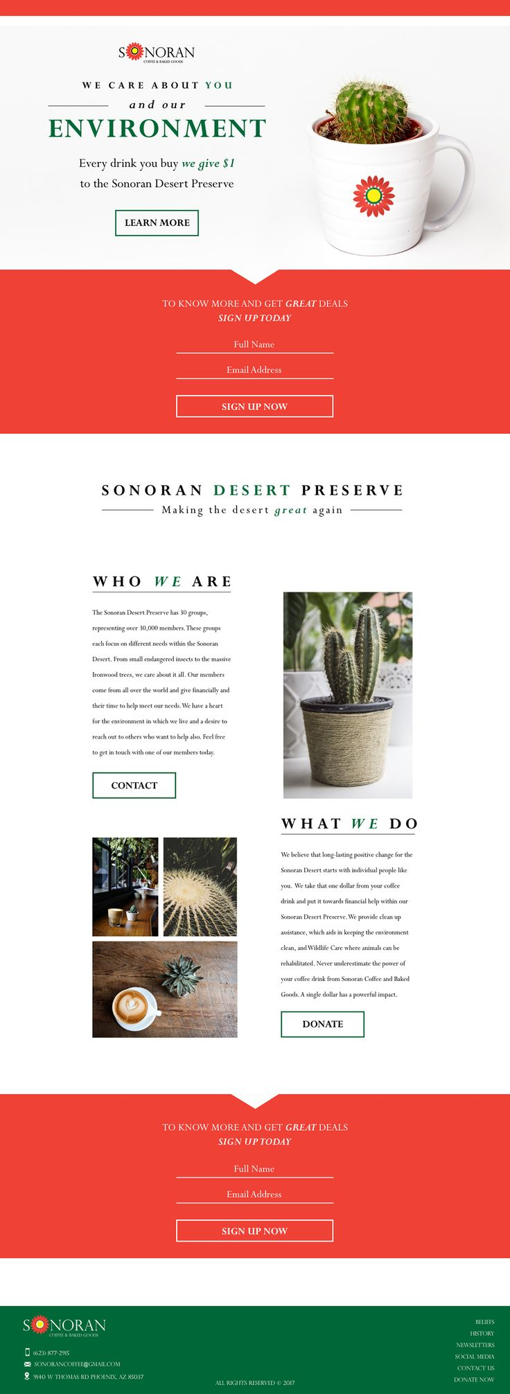 Sonoran Landing Page on Behance