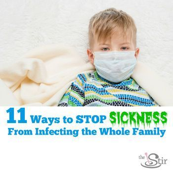 How to keep the rest of the family healthy when one person is sick. Great ideas!