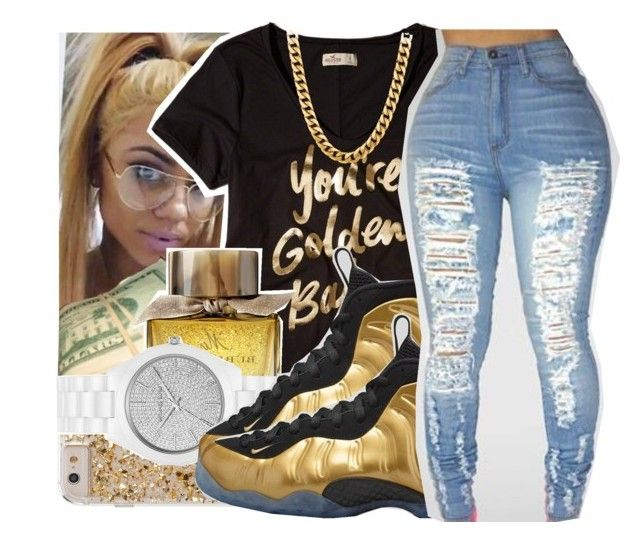 """""""Untitled #125"""" by swavenation-n-trapsoul ❤ liked on Polyvore featuring Hollister Co., Michael Kors and NIKE"""