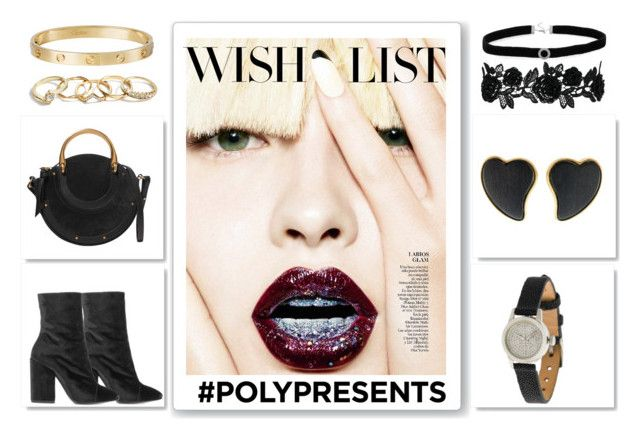 #PolyPresents: Wish List by igiulia on Polyvore featuring Dries Van Noten, Chloé, Christian Koban, Yves Saint Laurent, Cartier, BillyTheTree, GUESS, contestentry and polyPresents