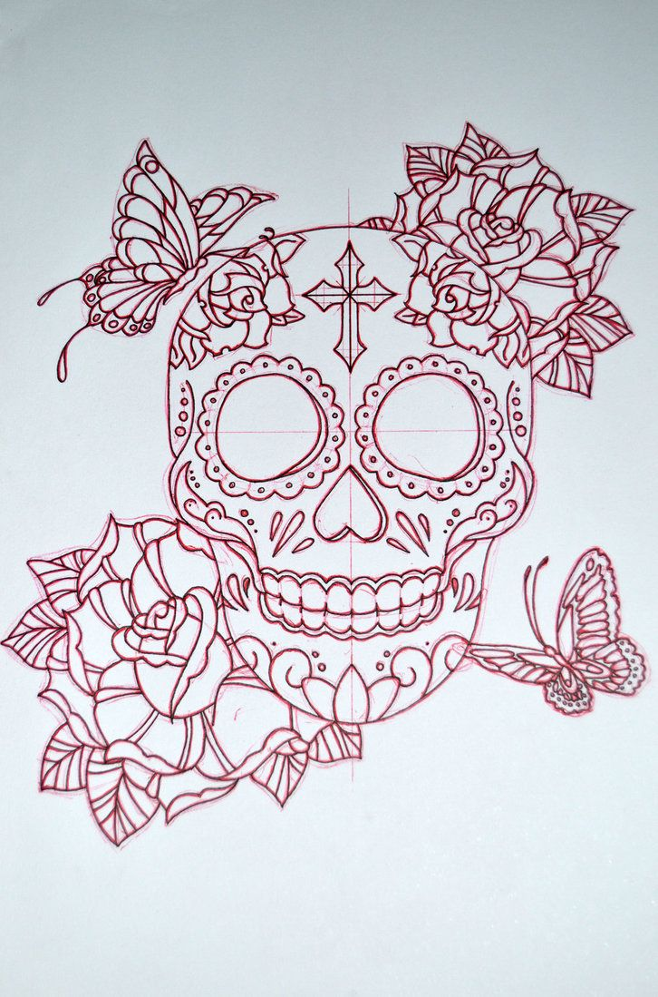 sugar skull designs - Google Search change the cross into a heart or maybe a star