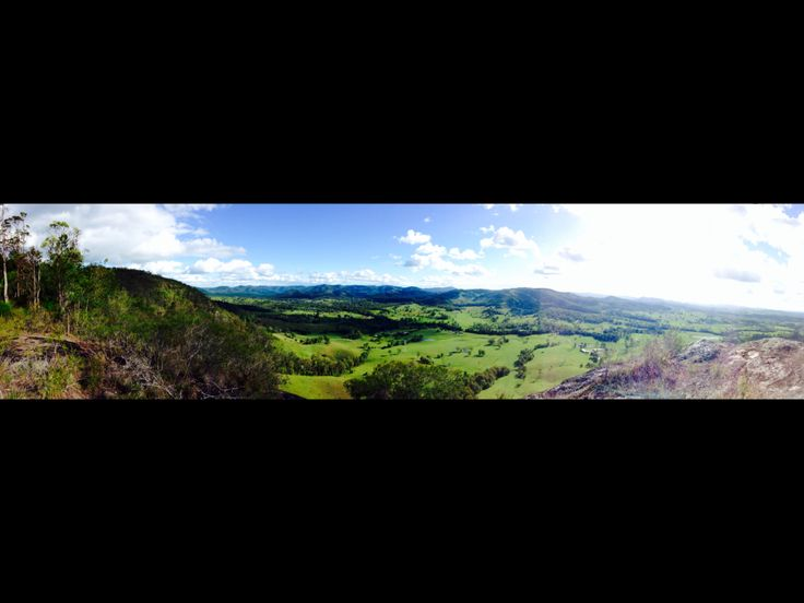 """Stunning view from """"The Bluff"""". Brooloo/Kenilworth area. Queensland, Australia."""