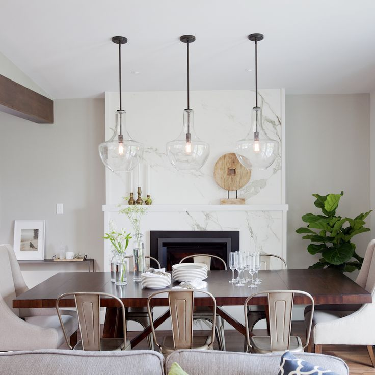captivating dining room lighting | Love It Or List it Vancouver: Mary & Calvin. LOVE these ...