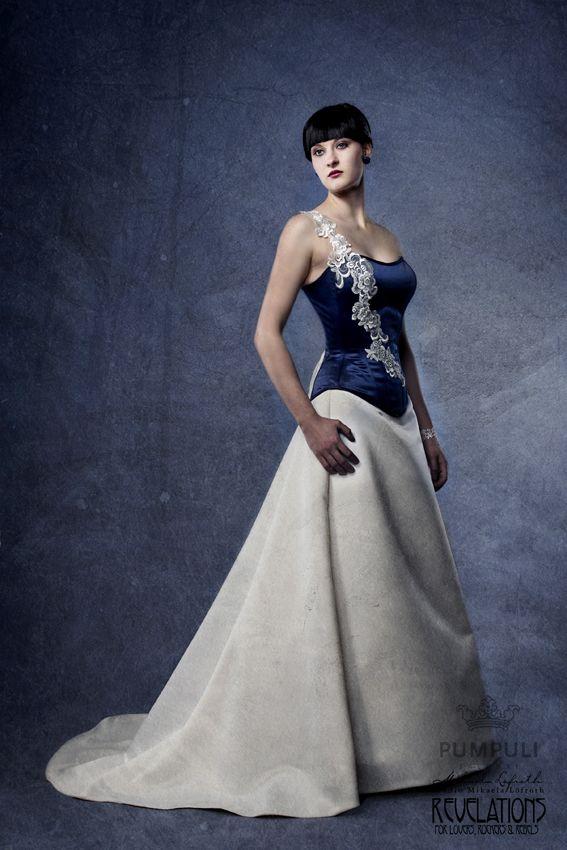 Eva -corseted wedding gown  Designer Aurora Raiskinen Pic ByMikaelas MUAH Carita/ Pumpuli Salonki Model Pia