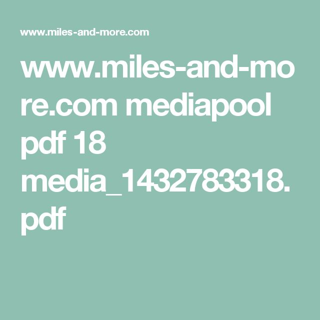 www.miles-and-more.com mediapool pdf 18 media_1432783318.pdf