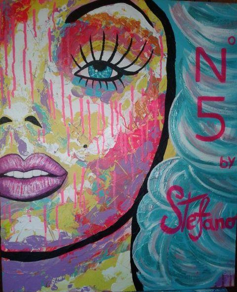 N5 by STEFANO acrylic on canvas(50x60cm) fashion art Marilyn Monroe 2014
