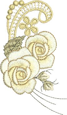 Sue Box Creations | Download Embroidery Designs | 31 - Rose Spray 2