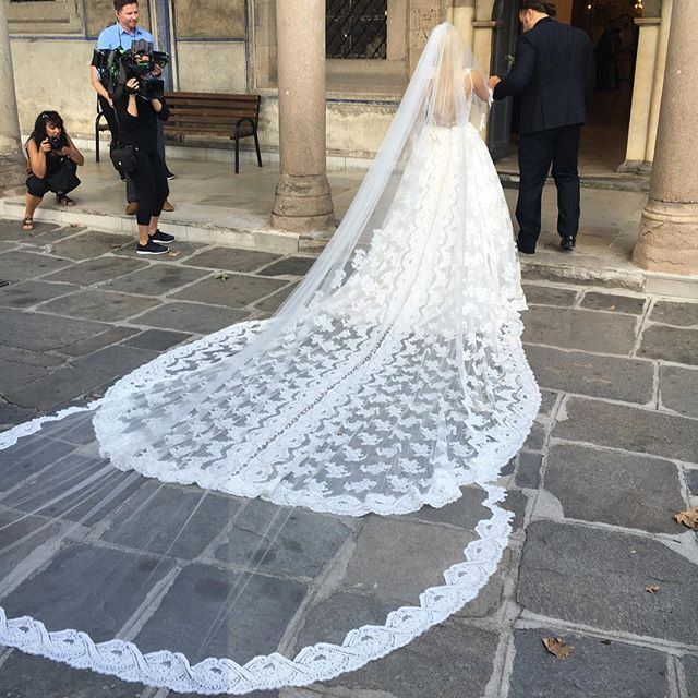 On Friday, September 2, 2016, Miroslav Barnyashev (WWE Superstar Alexander Rusev) and CJ Perry (WWE Diva Lana) held a second wedding in Plovdiv, Bulgaria, which is his native country. The bride wore a custom wedding gown by designer Olia Zavozina for the traditional Bulgarian wedding. The couple's first wedding was on July 30, 2016 in Malibu, California. The weddings will be featured on the sixth season of the reality show Total Divas. #WWE #Weddings