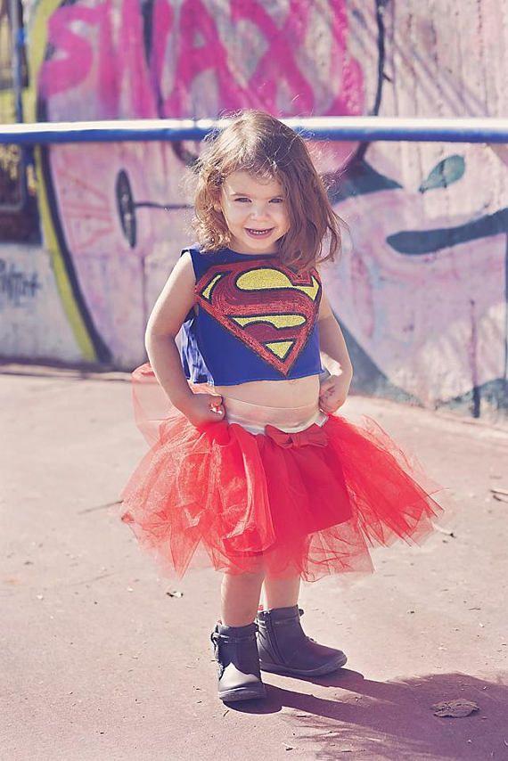 Super Baby Super Hero Tutu Costume Super girl Tutu Dress