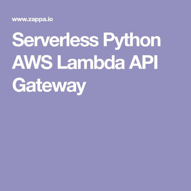 Serverless Python AWS Lambda API Gateway | DevOps | Python web