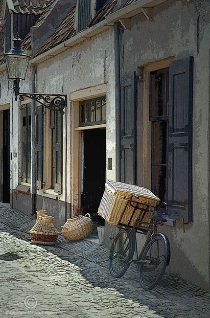 Bicycle on a street by the Zuider Zee a Fine Art Photo by Randy Nyhof on etsy