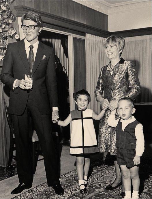 Yves Saint-Laurent and a mini Mondrian dress, circa 1965