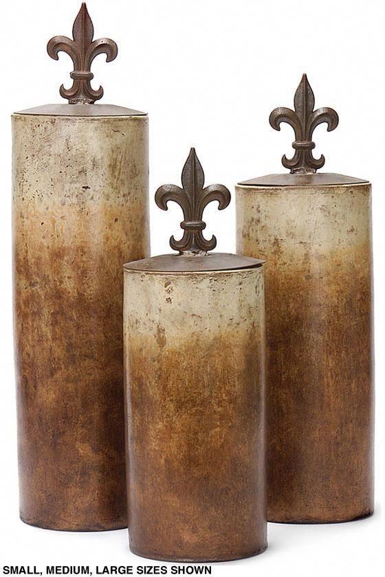fleur de lis lidded jar table accents home accents home decor rh pinterest com