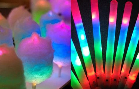 LED candy floss sticks- Glow in the dark