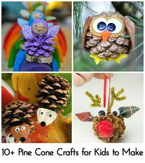 Deco no l pomme de pins pinecones nature 39 s goodies for for Pine cone christmas ornaments for kids