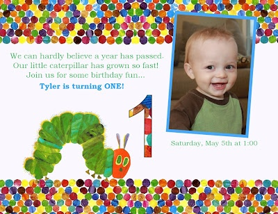 very hungry caterpillar party invite