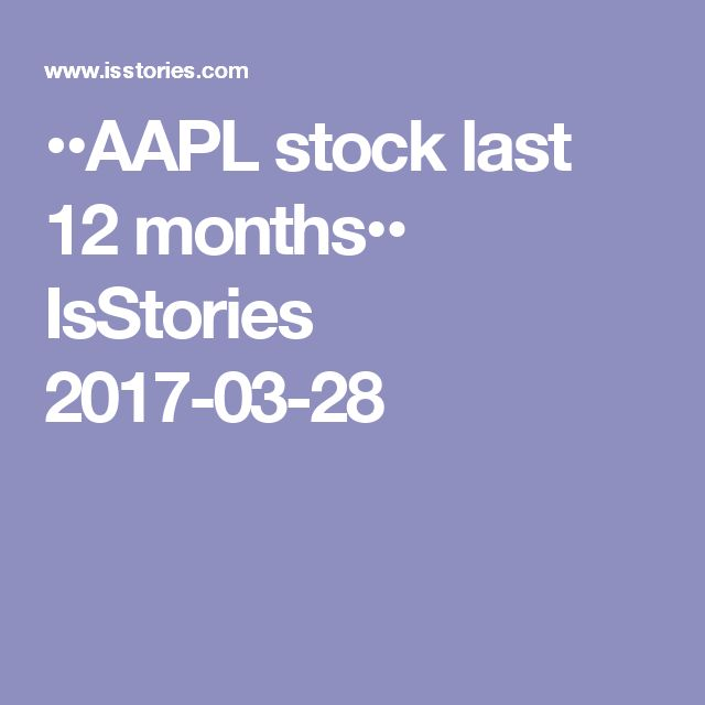 ••AAPL stock last 12 months•• IsStories 2017-03-28 • current $140+ • +59.8% up from 52 week low / + 21.67% last 3 mth / + 26.18% 6mth / + 36.76% 1yr  • price targets: mean $153 • 12mth return on assets: 14.4% / on equity 34.9% / on investment 20.6%! • price to cash ratio 12.21 / PEG 1.82 / Beta factor (risk) 1.17 / Total Debt/Equity 0.66 • profit margin: net 20.70% / operating 27.10% / gross 38.50% • P/E 16.87 • ownership investors: 61.20% institutional vs insiders 0.03%