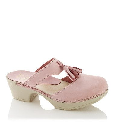 Look at this #zulilyfind! Pink Penny Leather Clog Sandal by Calou #zulilyfinds